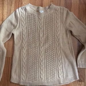 J. Crew cable-knit popcorn sweater